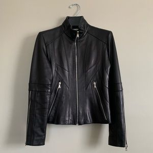 {{ Andrew Marc Leather Moto Jacket }}